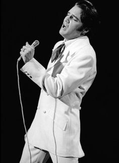 Elvis in june 30 1968 filming the sequence of the ending of his NBC t-v special , If I can dream