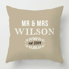 personalised wedding cushion http://www.artylicious.co.uk/cushions/typography-cushions/wedding-est-cushion.html