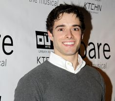 Corey Cott, on a night off from Broadway's Newsies, flashes us a big grin before seeing Bare.(© Miguel Munguia)