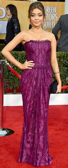 Sarah Hyland's red carpet style at the 2013 SAG Awards