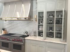 kitchen inspiration, kitchen design, kitchen organizing - love this spot for those tricky small appliances