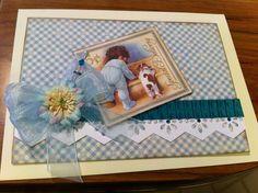 A grandma card for a special friend!!!  Love this Graphic 45 - Little Darlings Collection paper.