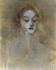 Kuva albumissa HELENE SCHJERFBECK - Google Kuvat. Portinvartijan tytär 1920-luku.