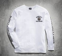 Expect to be noticed. | Harley-Davidson Men's Skull Long Sleeve Tee - White