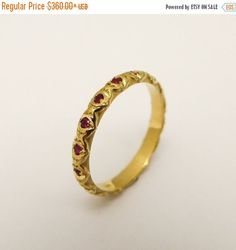 Handmade item Materials: 14 karat solid gold, Rubies Made to order Ships worldwide from Gevataym, Israel