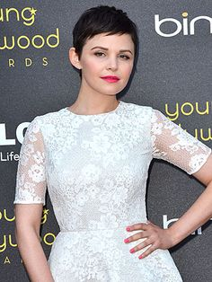 """Ginnifer Goodwin, """"Everything goes with short hair"""" ...""""I have very curly hair and I straighten it every day — it takes maybe two minutes. I can't imagine anyone having a bigger challenge than I do in the kinkiness that is my crazy 'fro,"""" she added."""