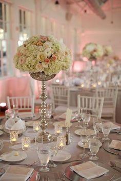 Photographer: Clark and Walker Studio; Wedding reception centerpiece idea