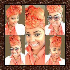 Loving the orange headwrap via Instagram (@tn_noelle).