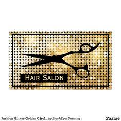 Fashion Glitter Golden Circle Hair Beauty Salon