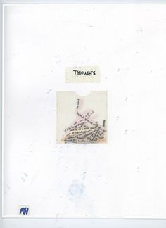 "naive-spirits:    ""Thoughts""  A Mixed Collage I made   06-13-12"