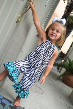 My Bella Bums Zebra Damask pillowcase romper jumper  by MBBcustoms on Etsy @Shannon McNitt