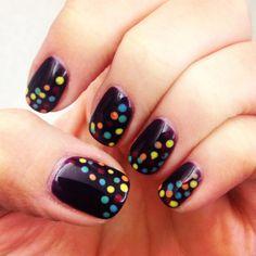 Confetti #nails by Vanessa Guerin at #salonbogar