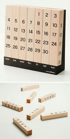 Creative Calendar Design Ideas For 2014 - The Minimal Million Year Calendar Wood Projects, Woodworking Projects, Projects To Try, Woodworking Plans, Wood Crafts, Diy And Crafts, Kalender Design, Creative Calendar, Perpetual Calendar