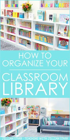Classroom Library Organization: How should I set up my classroom library? Get MUST-READ ideas to organize and label your books, easy tips to create an inviting space for your students, discuss bins…More Middle School Classroom, First Grade Classroom, New Classroom, Special Education Classroom, Classroom Design, Classroom Libraries, Classroom Decor, Classroom Library Labels, Setting Up A Classroom