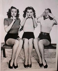 WE THREE... WE LIKE SHORT SHORTS! IN OUR DAY, THIS WAS CONSIDERED  SHORT.