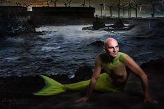 Meermann - Wassermann Fotoshooting mit Model Stefan