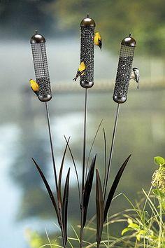 Cattail Wire Mesh Bird Feeders