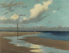 Frederick Milner (British, 1855-1939)Beach at Low Tide, 1890. Oil on canvas.