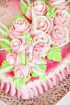 iPHOTOS.com - Closeup photo of the red wedding cake