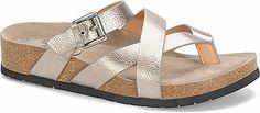 Sofft Brooke (Anthracite)- comfortable sandals, cheaper than Birkenstocks! Metallic Sandals, Birkenstock Mayari, Comfortable Sandals, Slide Sandals, Gladiator Sandals, Flip Flops, Espadrilles, Slip On, Leather