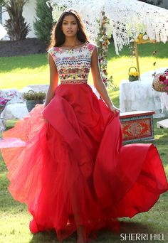Sherri Hill 50335 Boho Prom Dress #ipaprom