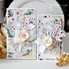 "😍✂️😍 Welcome crafty people. Our collection ""Secret place"" was inspired by the forest and it's whimsical nature. Mixed Media Cards, Scrapbook Cards, Scrapbook Layouts, Scrapbooking, Paper Tags, Secret Places, Paper Clay, Creative Cards, Prima Marketing"