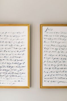 Love this idea to calligraph your wedding vows!