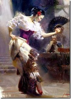 """The Dancer""  by Pino Daeni."