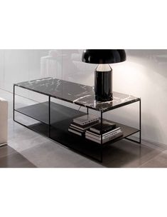 CALDER - Contemporary side table / mdf / metal / iron by Minotti Marble Furniture, Luxury Furniture, Modern Furniture, Furniture Design, Side Coffee Table, Unique Coffee Table, Coffee Table Design, Side Tables, Living Divani