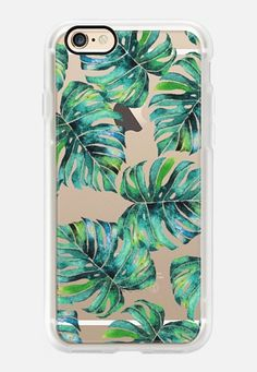 Casetify iPhone 7 Case and Other iPhone Covers -  Monstera + Pastel Pink iPhone & iPod Case by Uma Gokhale | #Casetify