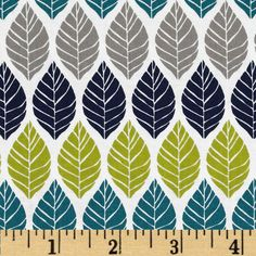Michael Miller Rustique Leaf Press Teal from @fabricdotcom  Designed by Emily Herrick for Michael Miller, this cotton print is perfect for quilting, apparel and home decor accents.  Colors include white, grey, lime, navy and teal.