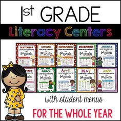 1st Grade Literacy Center BUNDLE