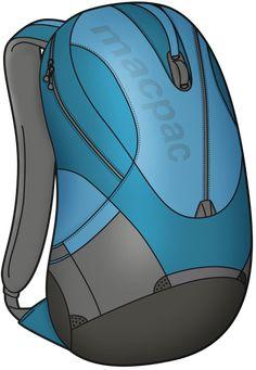 Wookey Design Studio | Versatile Daypacks, Macpac Daypack render