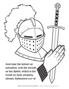 FREE Belt of Truth Coloring page > Eph 6 verses for Cycle