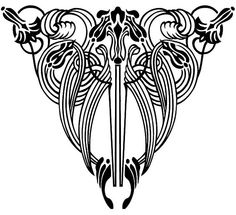 Pattern clipart art deco - pin to your gallery. Explore what was found for the pattern clipart art deco Motifs Art Nouveau, Design Art Nouveau, Motif Art Deco, Art Nouveau Pattern, Flores Art Nouveau, Bijoux Art Nouveau, Art Nouveau Flowers, Art Flowers, Tatuagem Art Nouveau