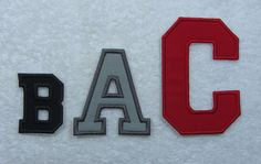 4 Inch College/Varsity Letter/Monogram Fabric by TheAppliquePatch