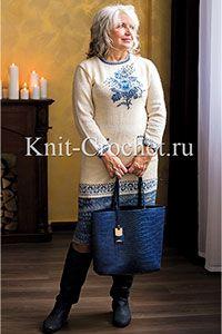 Платья, связанные спицами - Вязание спицами - Каталог статей - Вязание спицами и крючком