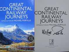 Signed Book Great Continental Railway Journeys Michael Portillo BBC2 Bradshaw s