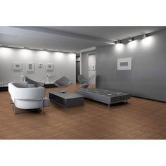 Piso Laminado Eucafloor Prime 7mm x 19,7cm x 1,35m (m²) - caixa com 2,14m² - Natural Nogueira