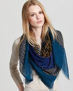 Burberry Graphic Color Tweed Cashmere Silk Scarf - Scarves & Wraps - Hats, Scarves & Gloves - Accessories - Jewelry & Accessories - Bloomingdale's