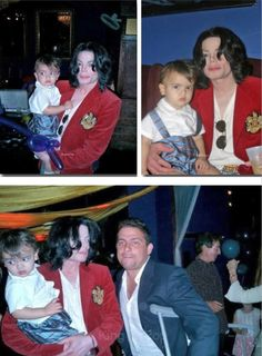 Michael with his son Blanket (age 1) in 2003.