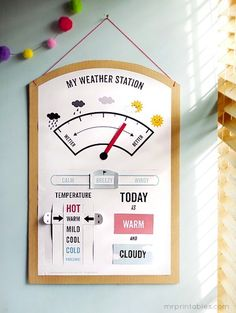 My Weather Station (Free Printable) - fo course I'd have to design my own to adapt it to NE weather