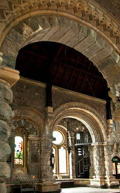 Inside St. Conan's Church, Loch Awe, Scotland.