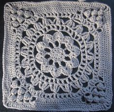 "Cathedral Converts 12"" Afghan Block Tutorial/Re-write Crochet pattern by Margaret MacInnis 