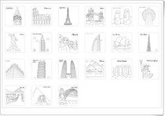 Grandes monumentos artísticos para colorear (Studyvillage.com) Words, Teaching Resources, Free Coloring, Monuments, Learning, Activities, Horse