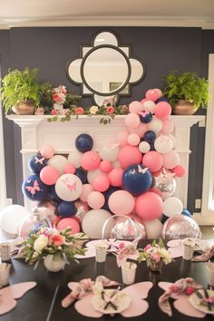 Baby shower balloons are amazing decorations for a girl, boy, and neutral showers. They can be used as a backdrop or centerpieces too. Click the link for tons of great balloon decoration ideas. Also find helpful tips and DIY videos on how to make an arch, Birthday Party Celebration, 2nd Birthday Parties, It's Your Birthday, Girl Birthday, Birthday Ideas, Balloon Garland, Balloon Decorations, Baby Shower Decorations, Balloon Columns