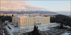 Syntagma Square - the hub and heart of Athens, where Cloe first arrives in GREECE in (Illustration for Scene Scholar and Journeyer) Award Winner, Athens, Paris Skyline, My Books, Greece, Romance, Scene, Adventure, Mansions