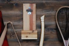 Wall-Mounted Bottle Opener with Magnetic Cap Catcher by Meriwether of Montana available at Withal now. Coupons For Boyfriend, Boyfriend Gifts, Pallet Deck Furniture, Diy Furniture, Wall Mounted Bottle Opener, Man Cave Home Bar, Home Brewing, Wood Pallets, Pallet Wood