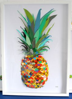 Colour Paper Pineapple - Andy MacGregor for Claire Paper Collage Art, Paper Art, Pineapple Art, Pineapple Drawing, Pineapple Painting, Arts Ed, Art Plastique, Food Art, Bunt