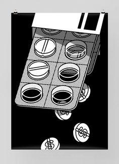 Swiss designer, Felix Pf affli is the mastermind behind design studio Feixen. Producing graphic design, illustration and a specialism in typography, Art And Illustration, Graphic Design Illustration, Graphic Design Posters, Graphic Design Inspiration, Graphic Art, Swiss Design, Social Art, Grafik Design, Vector Art
